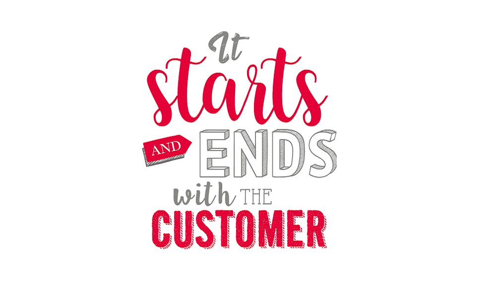 It starts and ends with the customer graphic from Dwain McDonald book